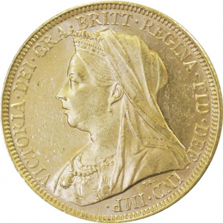 Victoria Veiled Head Gold Sovereign 1893-1901
